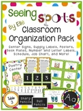 Classroom Organization Pack - Seeing Spots Theme {Bright and Polka Dot}