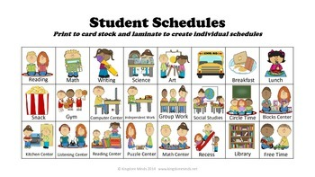 Classroom Labels and Schedule Bundle