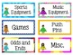 Classroom Labels and Signs EDITABLE USA