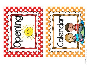 Classroom Labels and Signs!- Polka Dots
