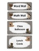 Classroom Labels and Student Nametags Cowboy/ Country Theme