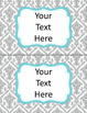 Classroom Labels, Binder Covers, Spine Labels  EDITABLE yellow, gray, aqua