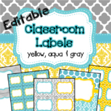 Classroom Labels, Binder Covers, Spine Labels  EDITABLE ye