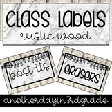 Classroom Labels Editable Rustic