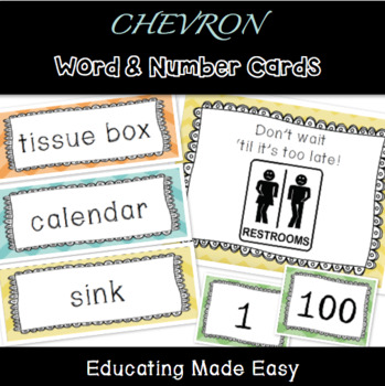 Write the Room with Chevron Words & Numbers: CUSTOMIZABLE!