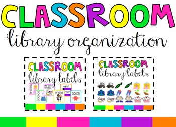 Classroom Labels for Books and Bins Bundle