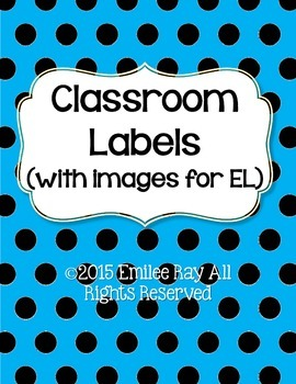Classroom Labels for General and EL students