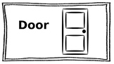 First Day of School Activity Classroom Labels for Kids to Color
