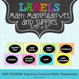 Math Manipulatives Labels (3.75 in x 5 in)