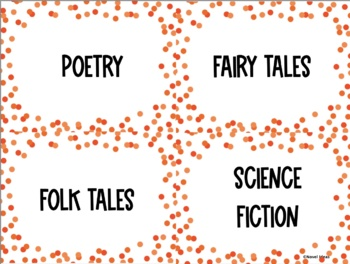 Classroom Library Labels for Middle & High School