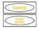Classroom Labels for Organization:  Black and Gold