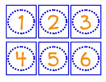 Classroom Labels for Organization:  Orange and Blue
