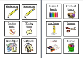 Classroom Labels for Resource tubs & book boxes