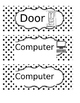 Classroom Labels with Visual