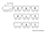 Classroom Labels for Supplies - Train set to keep classroom tidy