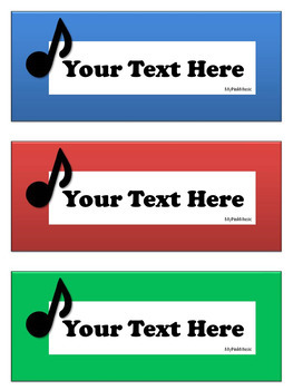 Classroom Labels for the MUSIC Room (FREEBIE in the preview)