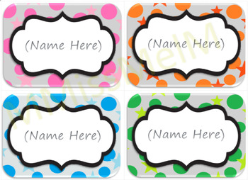 Classroom Labels in Assorted Colors