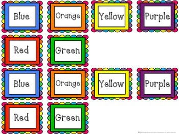 Classroom Labels in Numbers and Colors with a Rainbow Frame and Border
