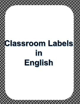 Classroom Labels in English