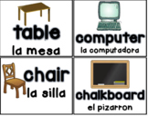 Classroom Labels in English & Spanish