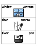 Classroom Labels in English and Spanish