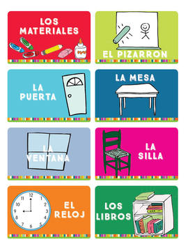 Classroom Labels in Spanish