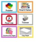 Classroom Labels (polka dot theme)