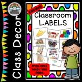 Classroom Labels using Real Photos for Preschool, Kinder,