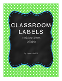Classroom Labels with Chalkboard Theme - 136 Labels