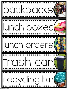 Editable Classroom Labels (with Real Photo Images)