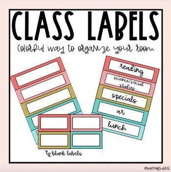 Classroom Labels with Schedules EDITABLE