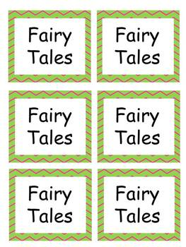 Classroom Labels with chevron EDITABLE