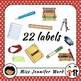 Classroom Supply Labels in Japanese with Pictures