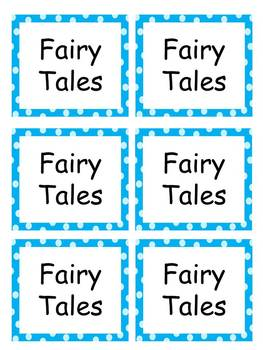Classroom Labels with polka dots EDITABLE