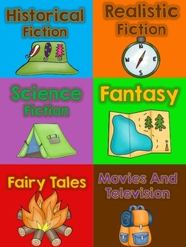 Classroom Labels {Book Genre and Supplies} *Camping Theme*