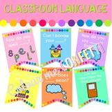 Classroom Language Banner - Colour me Confetti