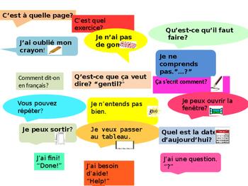 Classroom Language Desk Poster