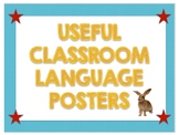 Classroom Language Posters in English and Spanish
