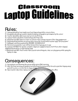 Classroom Laptop Guidelines