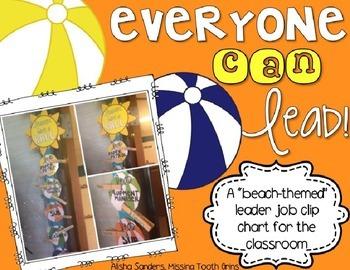 Classroom Leader Jobs (Beach Theme)