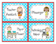 Classroom Leaders Job Cards Red and Aqua