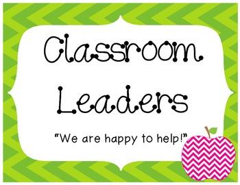 Classroom Leaders Job Chart (Free!)