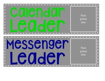 Classroom Leaders - Student Jobs