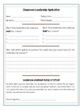 Classroom Leadership Application