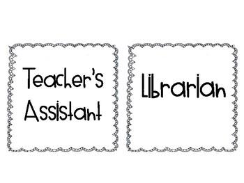 Classroom Leadership Jobs {Doodle Border}