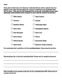 Classroom Leadership Role Application