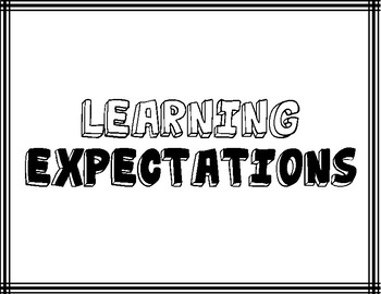 Classroom Learning Expectations ~Stripes~