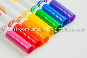 Classroom Lens Stock Photo - Markers