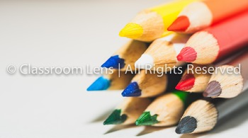 Classroom Lens Stock Photo - Colored Pencils 3