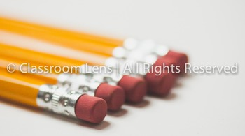 Classroom Lens Stock Photo - Pencils